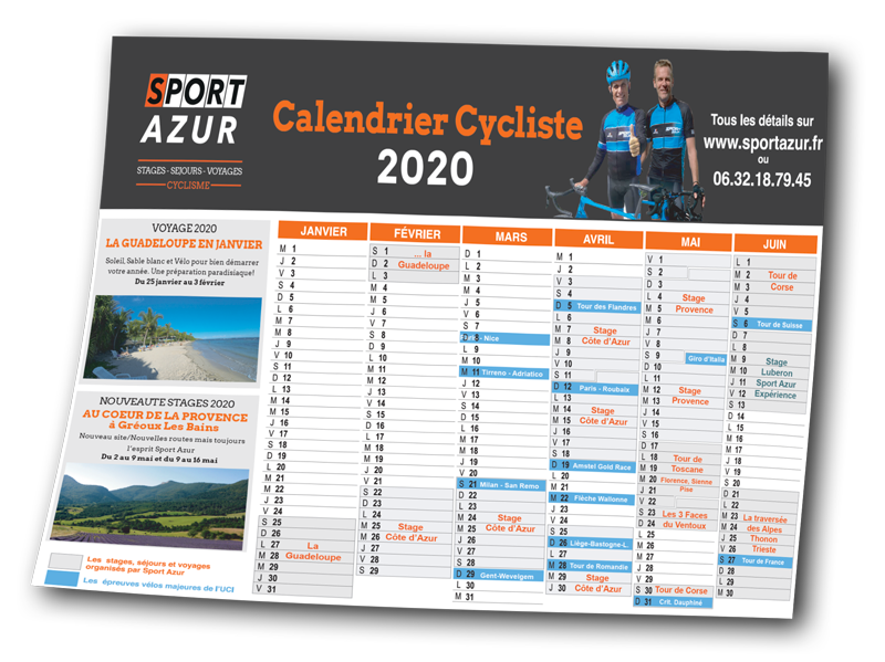Calendrier Course Cycliste Professionnel 2020.Stages Cyclistes Defis Cyclosportifs Et Voyages Velo